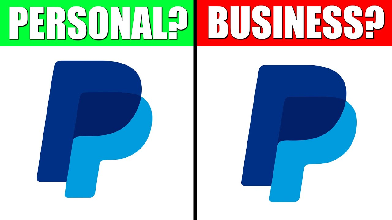 Difference between PayPal Personal Account and Business Account